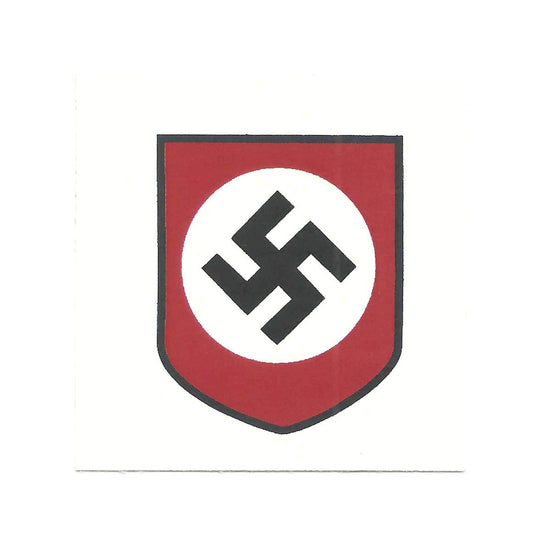 German WWII Steel Helmet Decal- National Socialist Party Shield