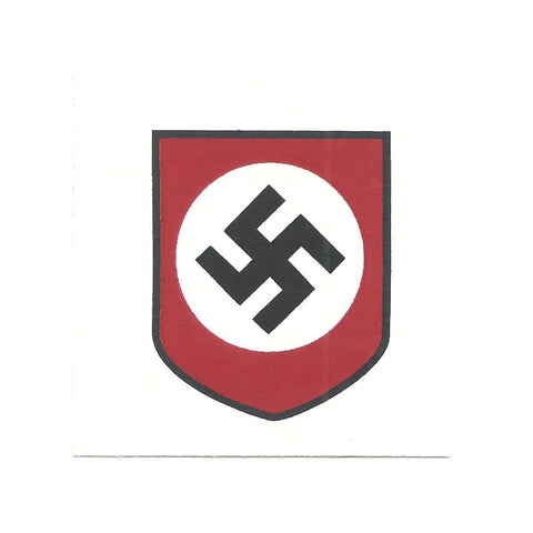 German WWII Steel Helmet Decal- National Socialist Party Shield New Made Items