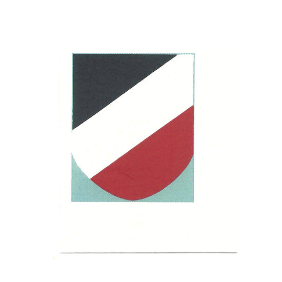 German WWII Steel Helmet Decal- Tricolor National Shield