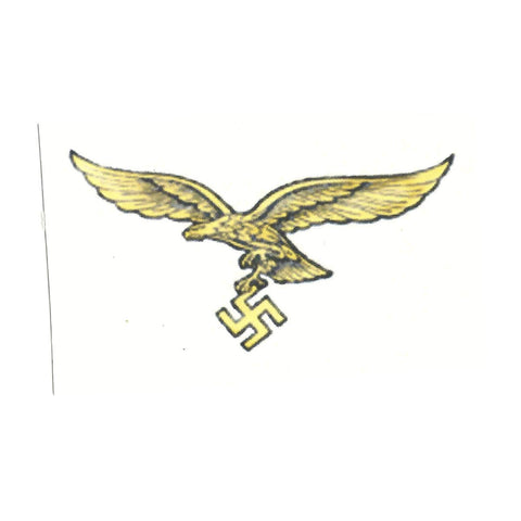 German WWII Steel Helmet Decal- Tan Luftwaffe Eagle