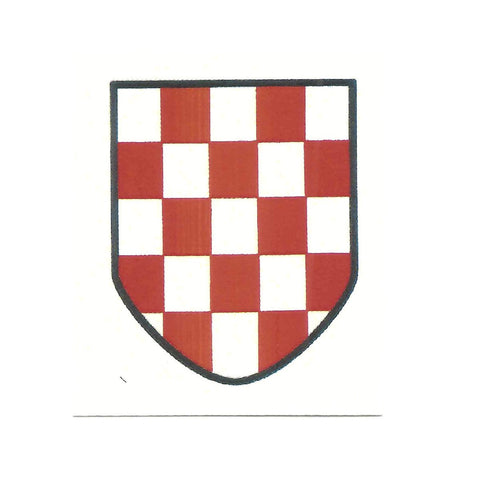 German WWII Steel Helmet Decal- Croatian SS Shield New Made Items