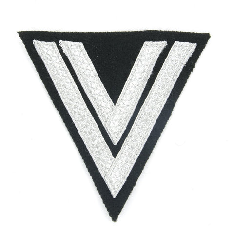 German WWII Cloth Embroidered Badge Corporal Chevron