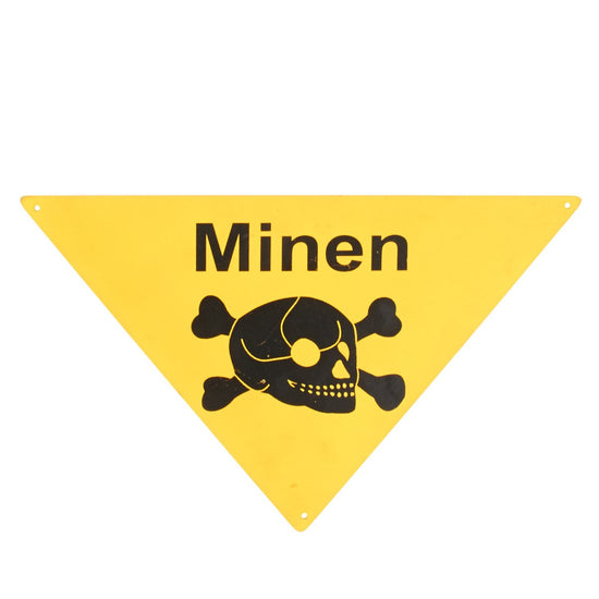 German WWII Minen Steel Sign