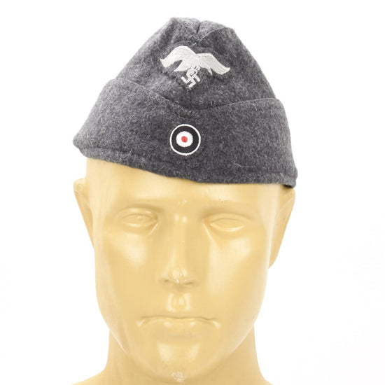 German WWII Luftwaffe Wool Side Cap New Made Items