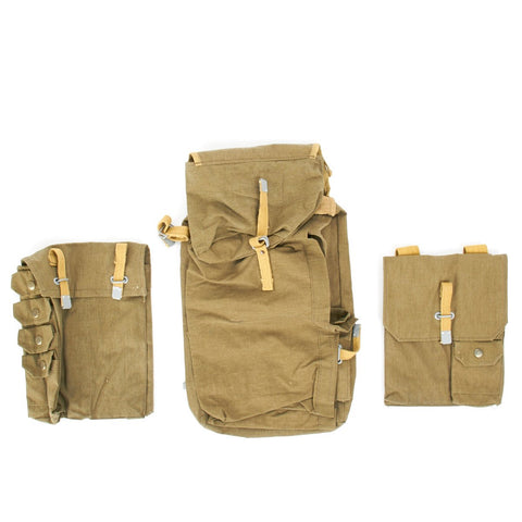 German WWII Pioneer Assault Back Pack Rucksack Assembly- 3 Bag Set