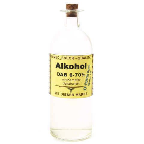 German WWII Alkohol Medical Bottle