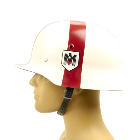 German WWII M35 Combat Medic Red Cross Helmet