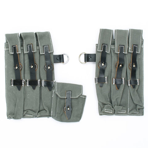 German WWII MP 40 Magazine Wehrmacht Pouch Set- Grade 2