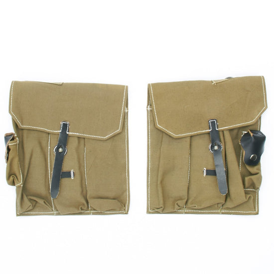 German WWII Mkb42 Magazine Canvas Pouch Set- MP44 Sturmgewehr New Made Items