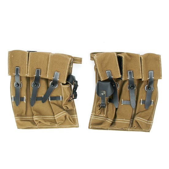 German WWII MP 44 Magazine Web and Leather Pouch Set