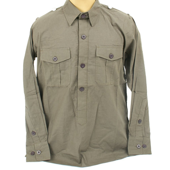 German WWII Wehrmacht Olive Grey Field Shirt New Made Items