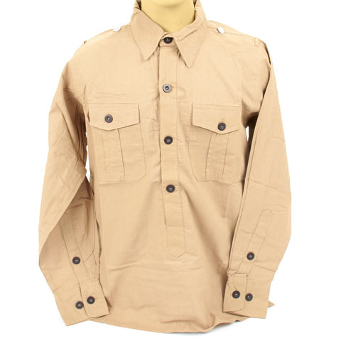 German WWII DAK Light Brown Field Shirt