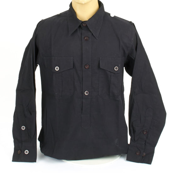 German WWII Panzer Black Service Shirt