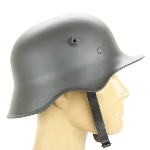 German WWI M18 Steel Ear Cut Out Helmet with Leather Liner New Made Items