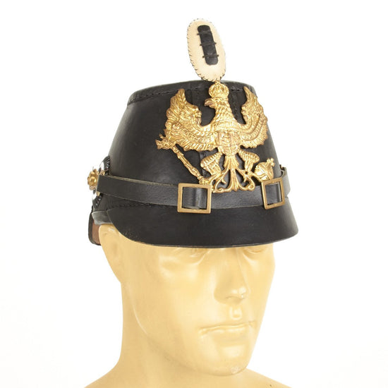 Prussian Jager Enlisted Shako Leather Helmet