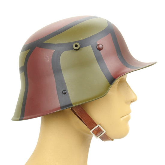 German WWI M16 Stahlhelm Steel Helmet- Hand Painted Camouflage