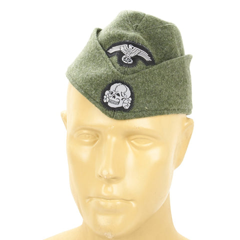 German SS Panzer EM Overseas Cap- Field Grey Side Cap New Made Items