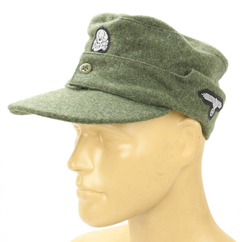 German WWII Waffen SS M43 Wool Cap- Field Grey