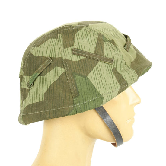 German WWII Splinter Pattern Helmet Cover M35, M40, M42