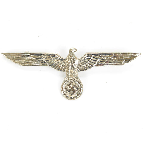 German WWII Army Heer Silver Eagle Metal Badge
