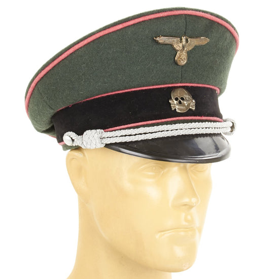 German WW2 Waffen-SS Panzer Officer Visor Cap New Made Items