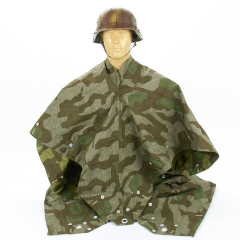 German WWII Tent Quarter & Poncho Zeltbahn Splinter Pattern Camouflage Reversible
