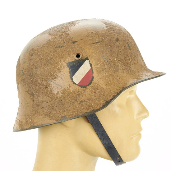 German WWII M35 Steel Helmet - Textured Afrikakorp 21st Panzer Division New Made Items