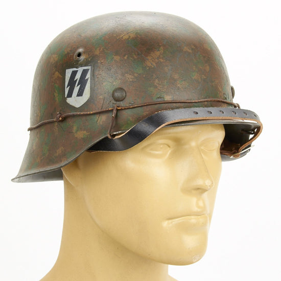 German WWII M42  Steel Helmet - SS Panzer Division, Eastern Front & the Battle of Kursk