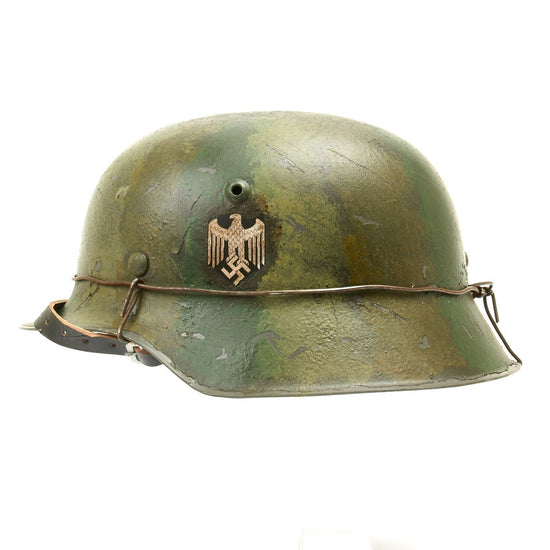 German WWII M42 Steel Helmet - Heer Infantry Summer Camouflage Helmet New Made Items