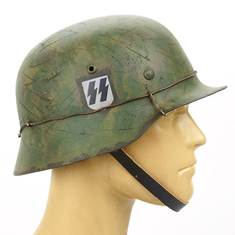 German WWII M35 Steel Helmet - SS Panzer Division, Eastern Front & the Battle of Kursk