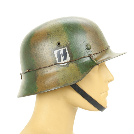 German WWII Reproduction M35 1st SS Panzer Korp Helmet