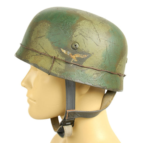 German WWII 6th Fallschirmjäger Regiment in Normandy Paratrooper M38 Helmet- Size 59cm