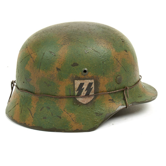 German WWII Reproduction M35 2nd SS Das Reich Normandy Helmet New Made Items