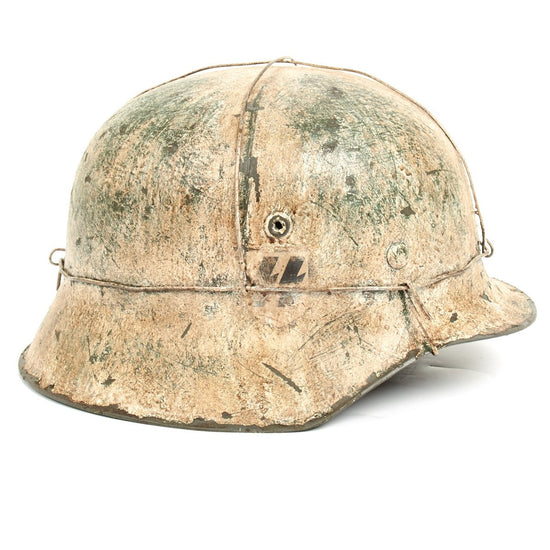 German WWII Reproduction M42 12 SS Hitlerjugend Helmet- Battle of the Bulge (Ardennes)
