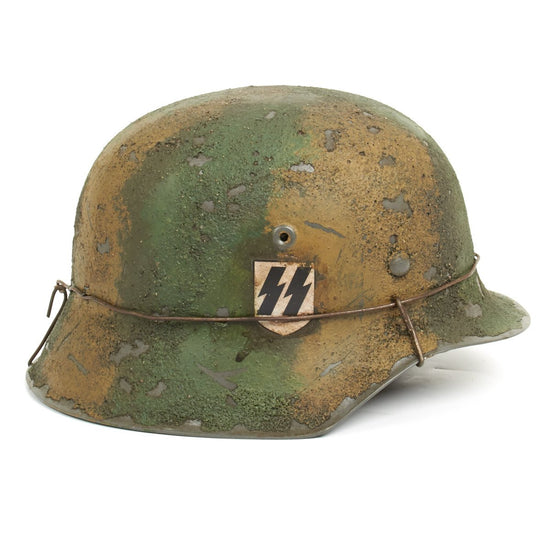 German WWII Reproduction M42 Helmet 12 SS Hitlerjugend at Caan