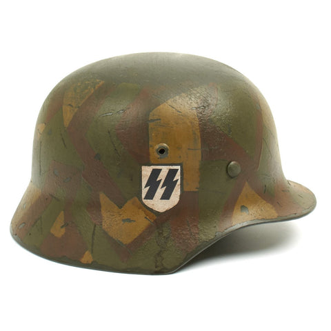 German WWII Reproduction M35 1st SS Panzer Division Splinter Pattern Helmet New Made Items