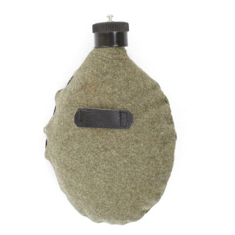 German WWII M31 Aluminum Canteen with Felt Cover