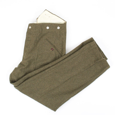 German WWII Wehrmacht Field Grey M40 Wool Trousers- Hosen