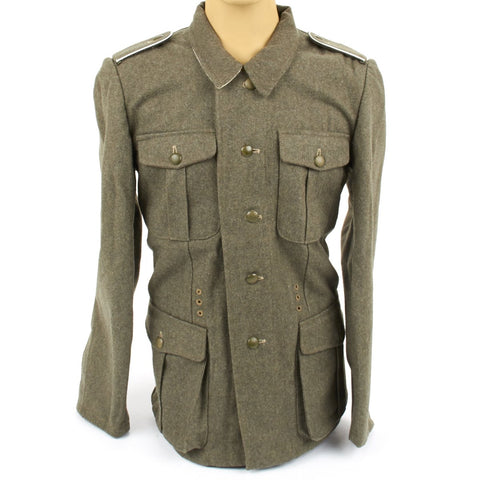 German WWII Wehrmacht Field Grey M40 Wool Tunic- Feldbluse
