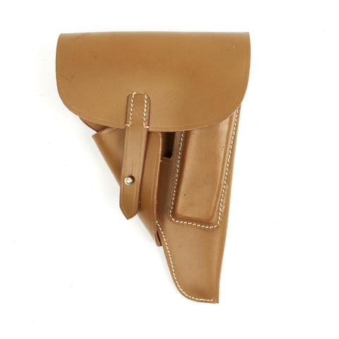 German WWII P-38 Softshell Afrika Korps Leather Holster