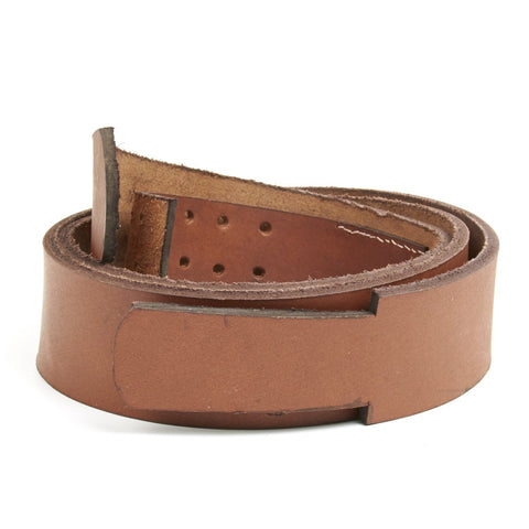German WWI Brown Replacement Waist Belt without Buckle