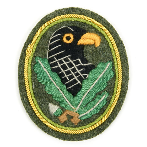 German WWII Sniper Cloth Badge with Gold Trim - Third Grade