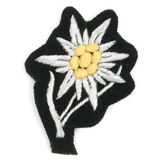 German WWII Gebirgsjäger Cap Badge - Edelweiss New Made Items