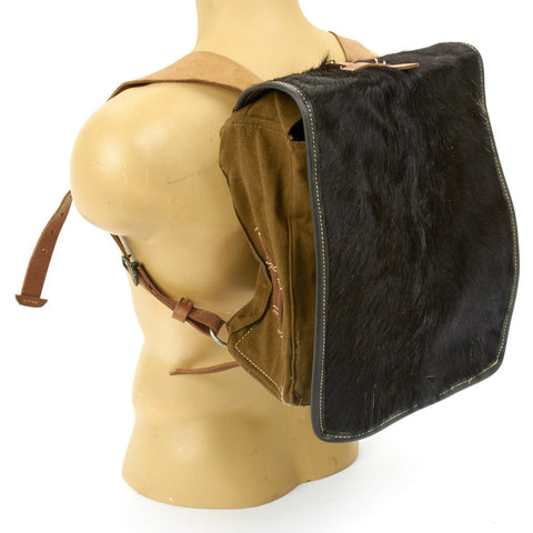 German WWII Tornister 34 Cowhide Backpack with Shoulder Straps New Made Items