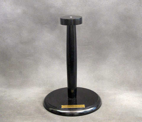 Wooden Helmet Display Stand in Black Satin Finish
