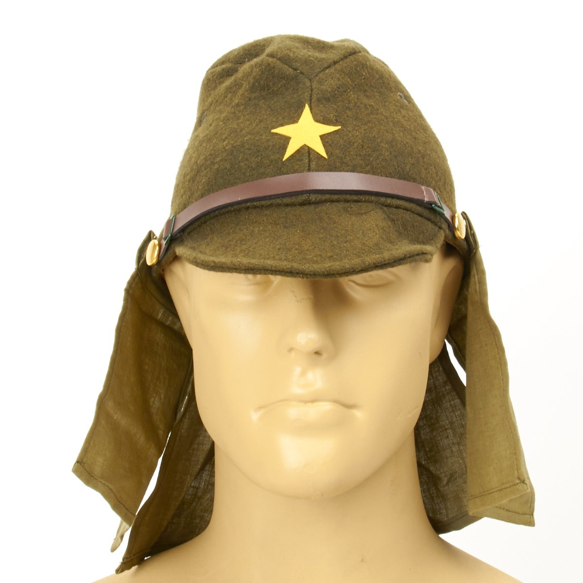 cde93d893c8 Japanese WWII Army EM NCO Field Hat with Neck Flaps – International ...