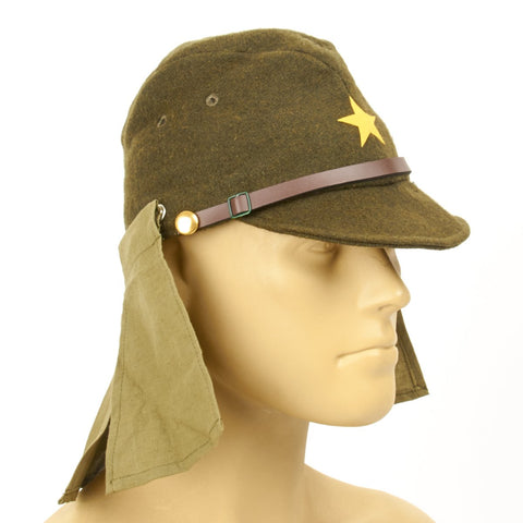 Japanese WWII Army EM NCO Field Hat with Neck Flaps
