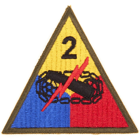 U.S. WWII 2nd Armored Division Shoulder Patch - Hell On Wheels