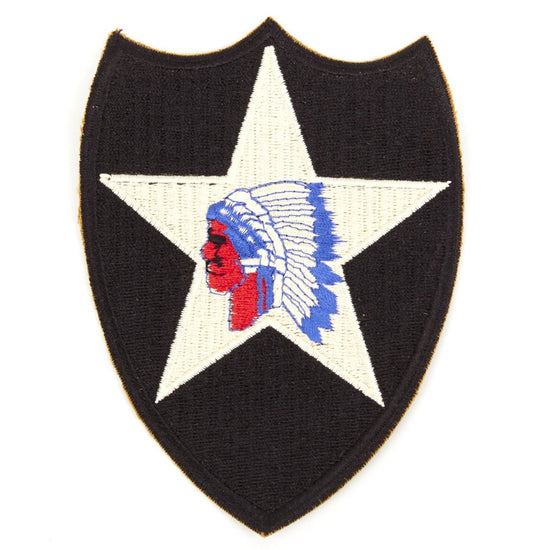 U.S. WWII 2nd Infantry Division Shoulder Patch - Indianhead