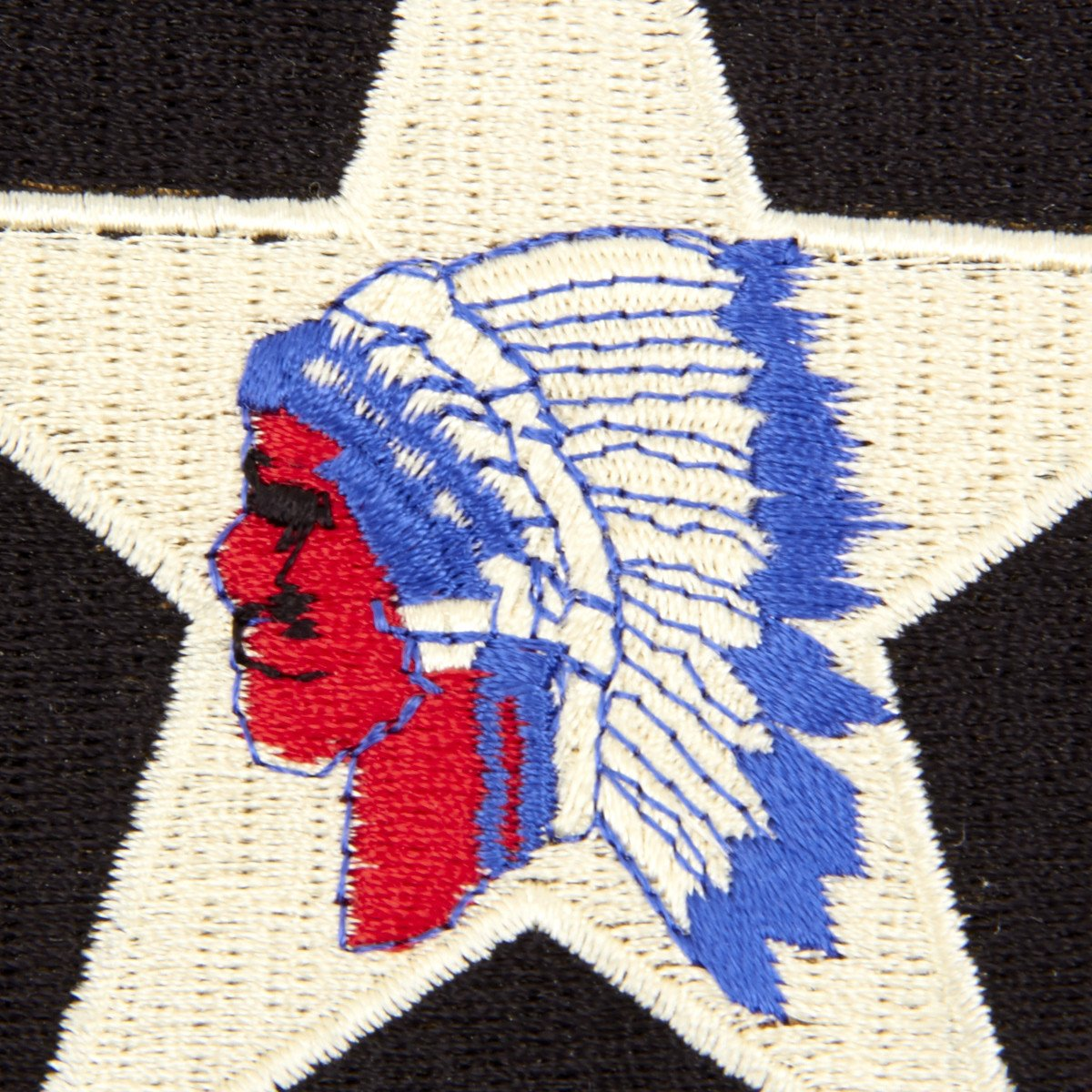 U S  WWII 2nd Infantry Division Shoulder Patch - Indianhead